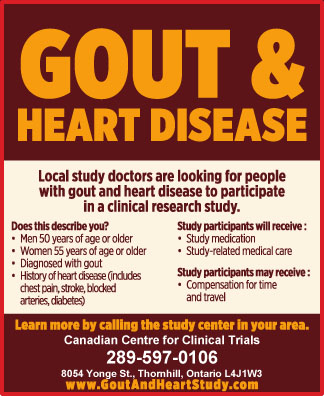 Gout and Clinical Trials - Experiments on Battling Gout
